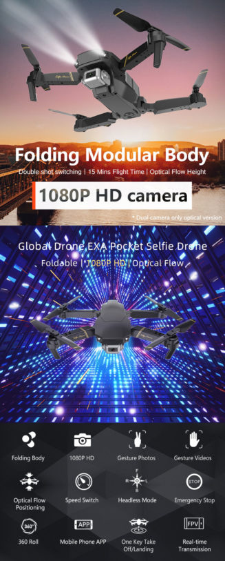 1080p wifi camera drone follow me functions 1 touch return and launch